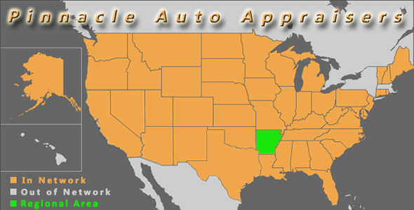 map arkansas pinnacle auto appraiser appraisal diminished value